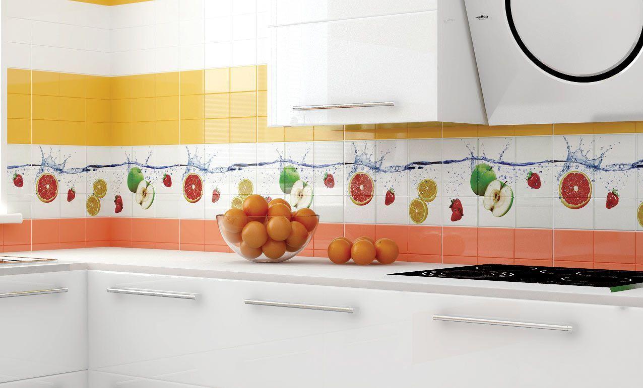 Плитка керамическая для фартука кухни декор
